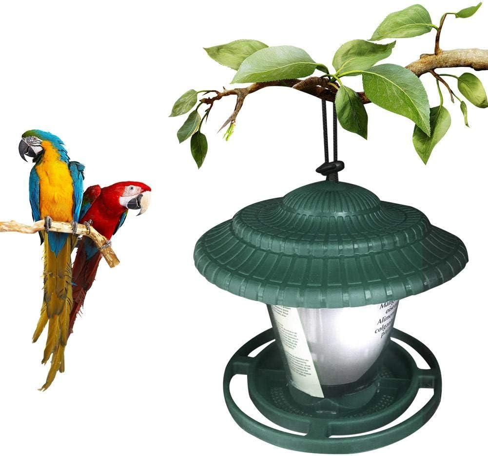 Onlyonehere Alimentador de pájaros, Comedero para pájaros Mirador y Comedor de Aves en el jardín Colgar Pequeño Comedero Decorativo para Exterior