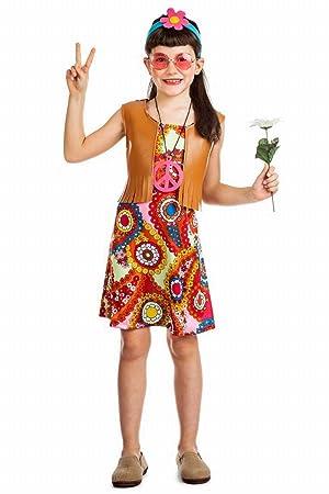 Disfraz Hippie Chaleco TALLA 3-4: Amazon.es: Juguetes y juegos