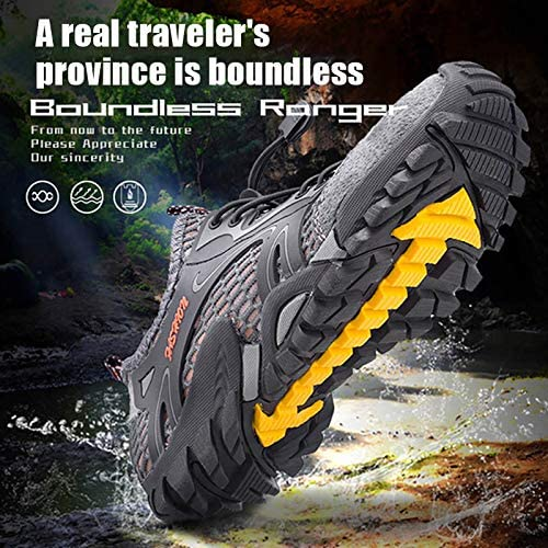 ZOZOE Men Women Hiking Water Safety Shoes Running Basketball Badminton Shoes Quick Drying Lightweight Mesh Breathable Jogging Trail Outdoor Non-Slip Sneakers