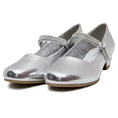 b2c8c2d920ce17 Amazon.com | Ychen Kids Girls Low Heels Wedding Bridesmaid Shoes Dress Shoes  with Rhinestones | Shoes