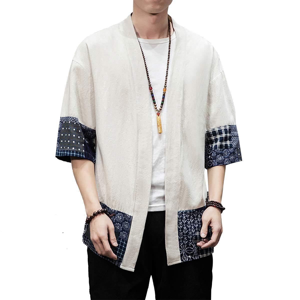 Amazon.com: PRIJOUHE Kimono Chaquetas Cardigan Ligero Casual ...