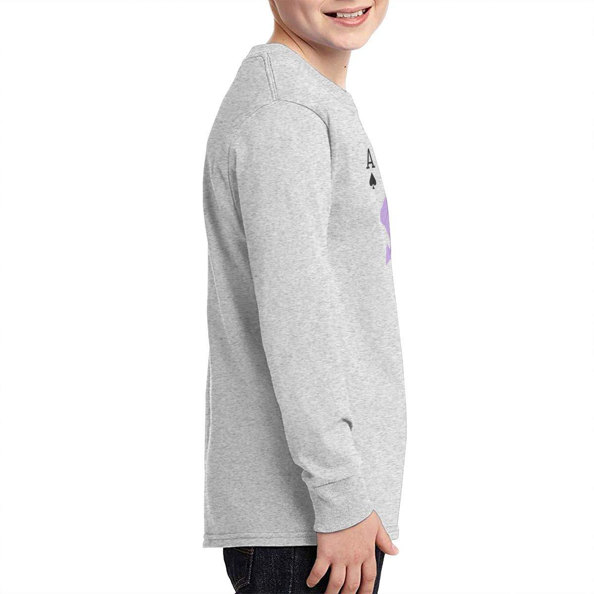Hisoka Card Boys Long Sleeve T-Shirt,Fashion Youth Tops