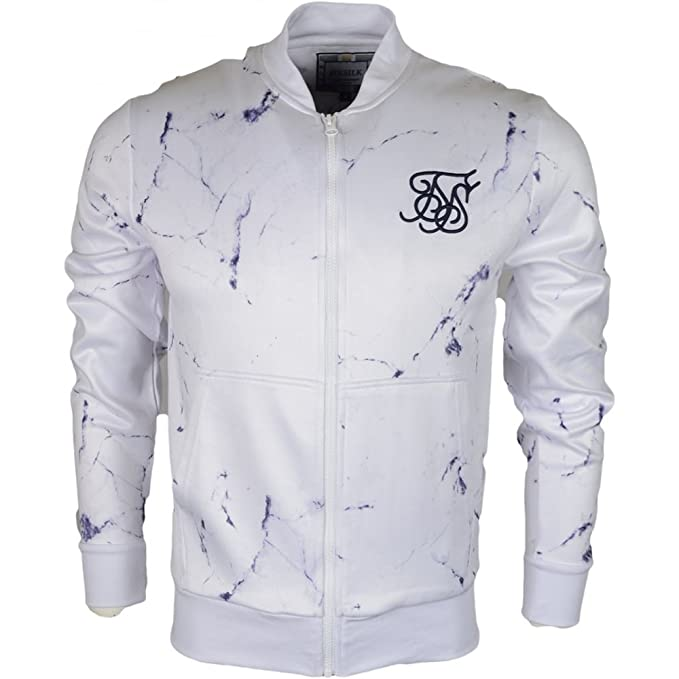 Siksilk - Sudadera Siksilk Marble Poly Tricot Bomber - 180827 SS 12814 - Blanco, L, Large: Amazon.es: Ropa y accesorios