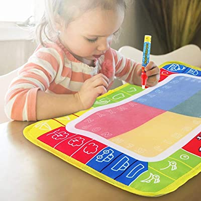 Diaper Kids Creative Reusable Doodle Painting Mat Water Drawing Pad with Pen Drawing & Sketch Pads: Toys & Games