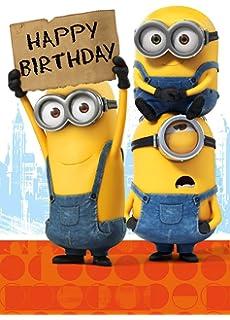 Despicable Me Minion Happy Birthday Card - 1 In a Minion: Amazon ...