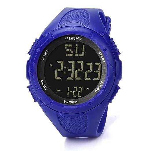 Reloj Digital Impermeable Para Hombre, Logobeing Reloj Led Digital Deportivo Para Mujer Fecha Reloj Impermeable