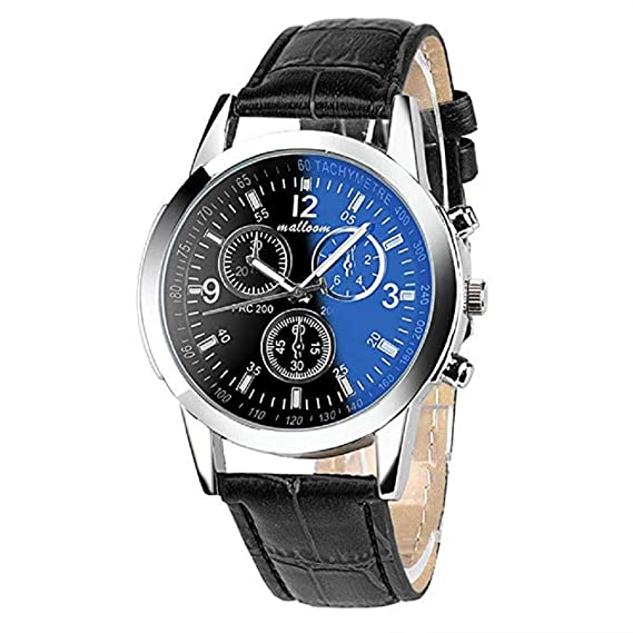 Amazon.com: Windoson Mens Quartz Watch Unique Analog Business Casual Fashion Wristwatch, Luxury Design Watches with Round Dial Case,Comfortable PU Leather ...