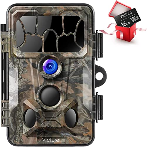 Victure Trail Game Camera 20MP with Night Vision Motion Activated Waterproof and 130 Detection Hunting Camera Trap 1080P IP66 for Outdoor Wildlife Monitoring
