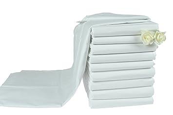 95° Luxus Hotel Bettlaken Betttuch weiß ohne Gummizug Übergrößen Moon 180g//m²