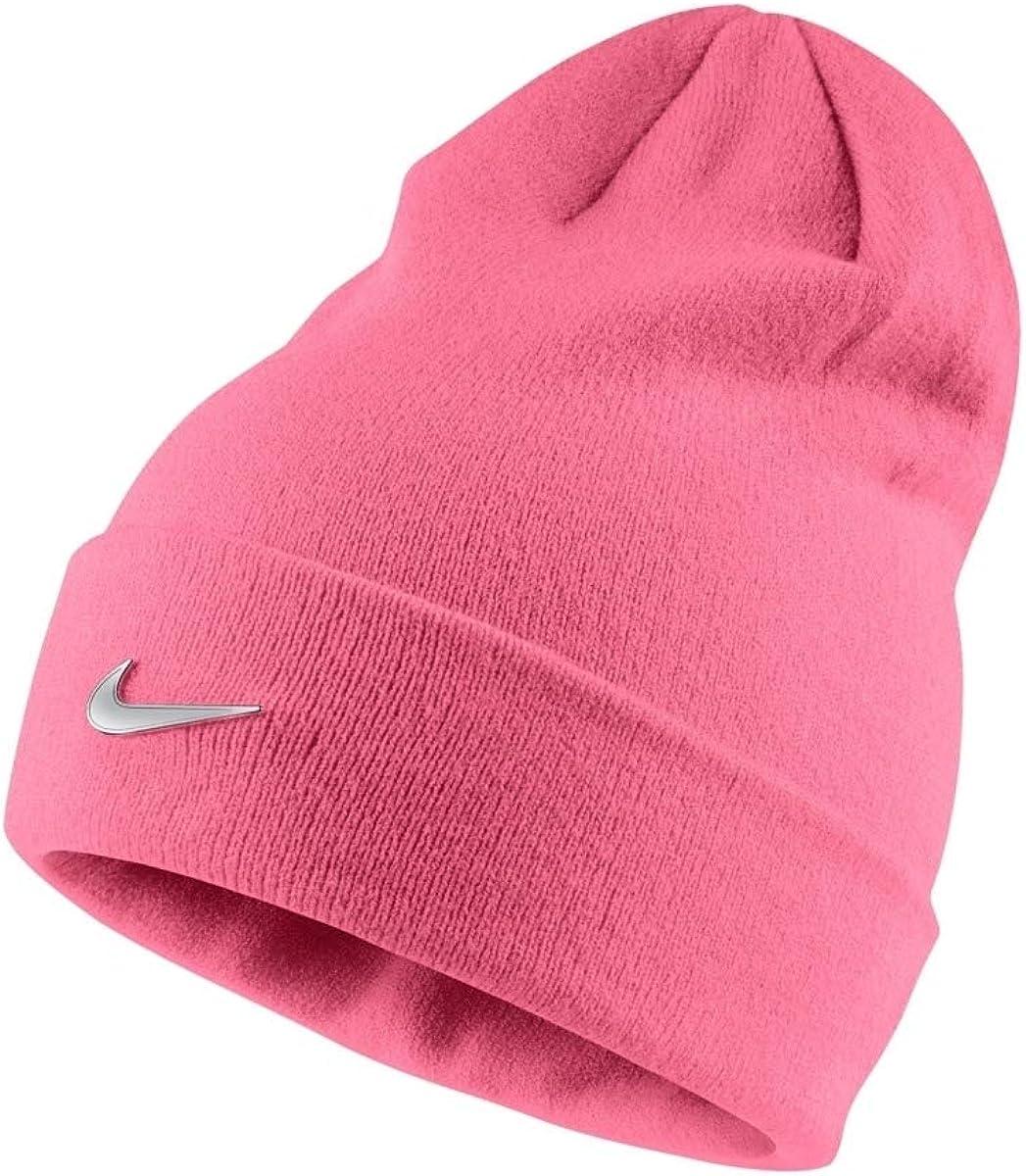 Nike Metal Swoosh Gorro para niña, Pink Nebula/(Metallic Silver ...