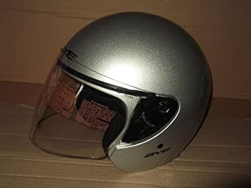 Casco Jet Moto Original Yamaha Bye Matrix III Color Silver Brillante Talla L