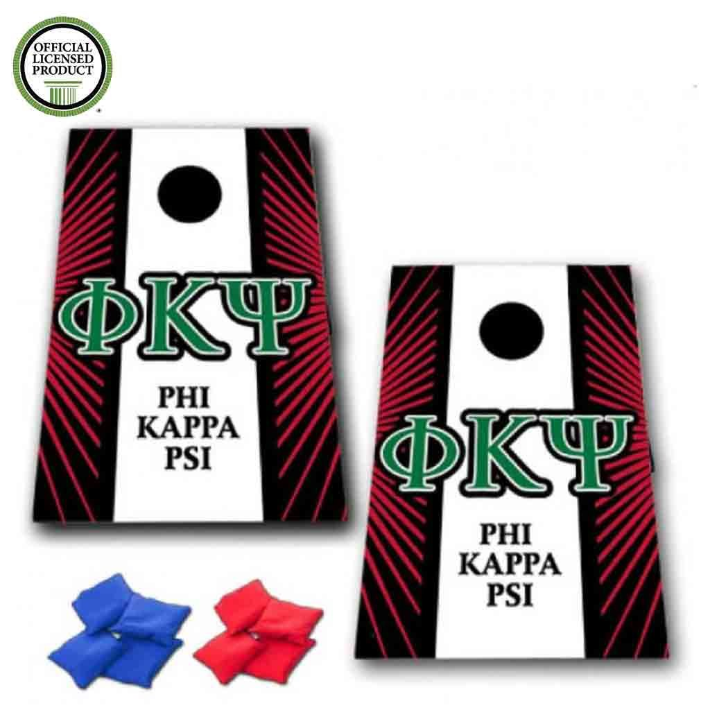 VictoryStore Cornhole Games - Phi Kappa Psi Cornhole Bag Toss Game - Starburst and Stripe - 8 Bags Included by VictoryStore (Image #1)