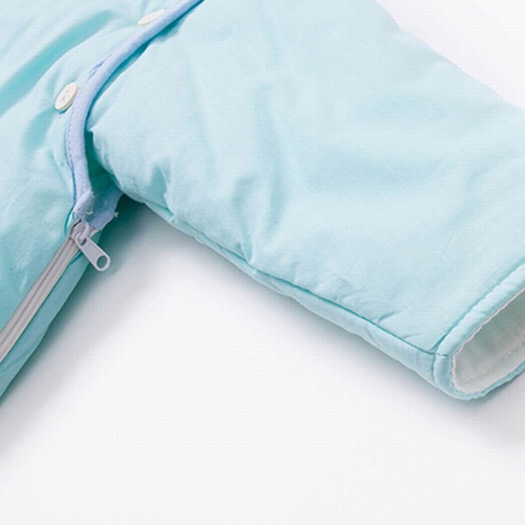 Happy Cherry Baby Toddler Tiger Cotton Sleep Bag Removable Long Sleeves Zipper Blue 6-24M