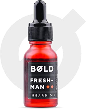 Bold Men, Beard Oil 30ml- Beard Oil, Conditioner and Softener, Natural Essential Oils of Cedarwood and Patchouli (Freshman)