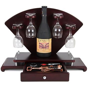 Estante de Madera para Vino - Creativo Estante de Vino para Bar/Porta Copa/Sala de Estar Muebles para el hogar/Portavasos (Tamaño : L50CM*H31CM): Amazon.es: ...