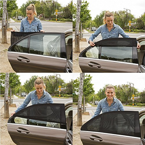ShadeSox Universal Car Window Sun Shade – Protects Your Baby and older Kids from the Sun, Fits Almost Every Car! (2 Piece).