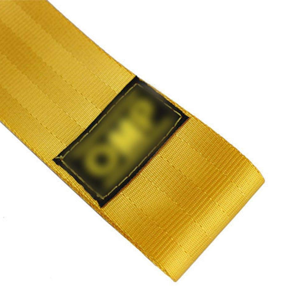 Rimorchio di traino per auto Rosso cintura di trazione personalit/à modificata rimorchio per paraurti anteriore con corda decorativa con gancio