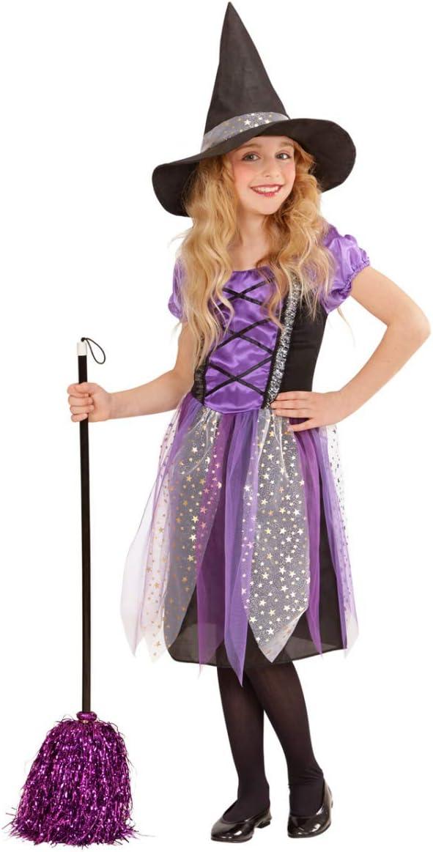 Horror-Shop Niño Brujo Púrpura Disfraces De Halloween S 128 cm / 5 ...