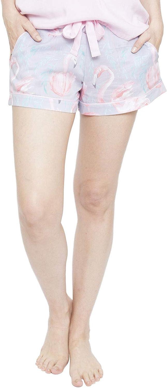 Cyberjammies 4113 Womens Zara Grey Flamingo Print Pyjama Short