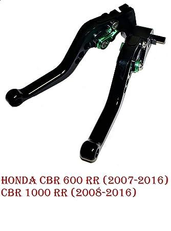 Maneta palanca regulable de embrague y de freno para Hоnda CBR 600 RR (2007-2016) CBR 1000 RR (2008-2016) corto: Amazon.es: Coche y moto