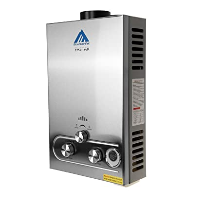 Ridgeyard 8L GLP gas propano sin tanque calentador de agua caliente instantáneo con cabezal de ducha