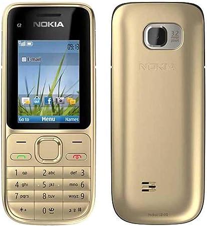 Nokia C2-01 C201 C2_01 Gold 3G UnLOCKED Sim, teléfono móvil libre: Amazon.es: Electrónica