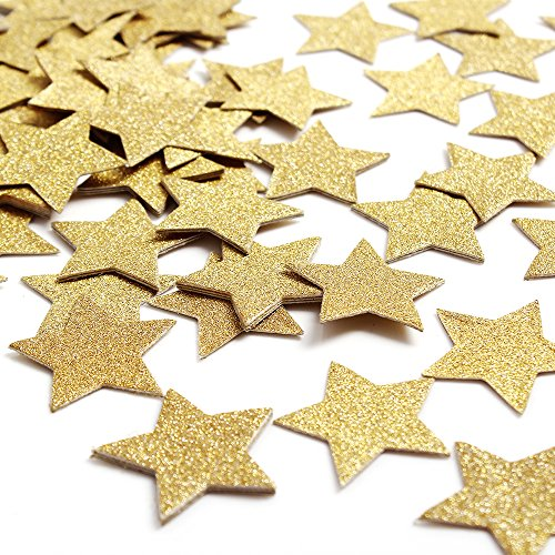 ZOOYOO 800pcs Gold Star Glitter Paper Confetti Glitter Paper Confetti Wedding Party Decor and Table - Felt Tutorial Christmas