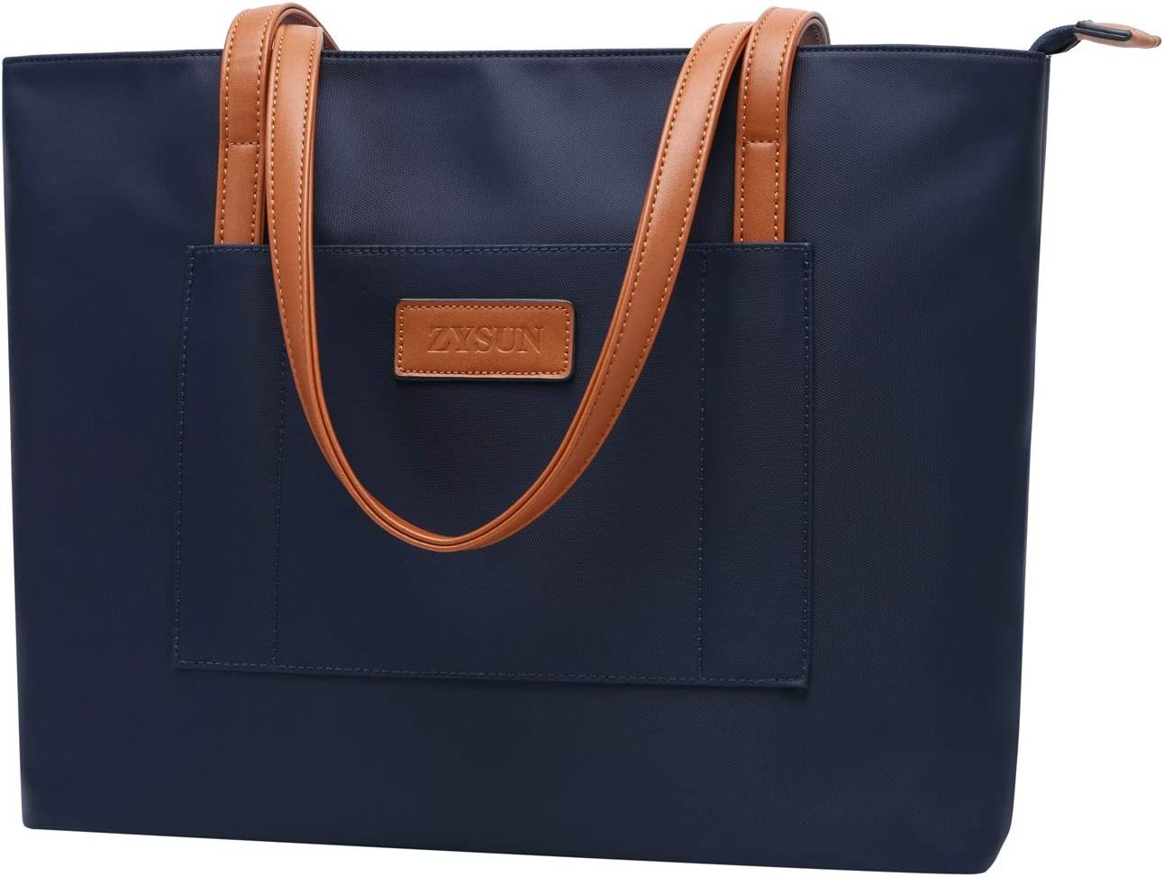 Laptop-Bag,13-15.6 Inch LaptopTote Bag for Women Nylon Work Bags Water-repellent Briefcase Durable Teacher Bag Lightweight School Bags for Business Travel Office Weekend,Navy