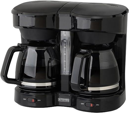 Amazon.com: Kitchen Selectives CM-302BL - Cafetera negra de ...