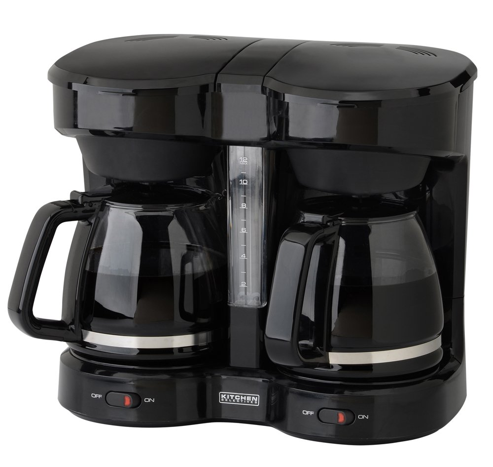 Kitchen Selectives Dual Carafe 12-Cup Drip Coffee Maker