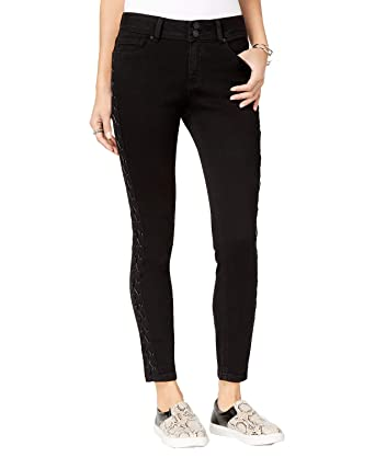 e34e31c7367fc Amazon.com  Indigo Rein Juniors  Lace-Up Skinny Jeans (Black