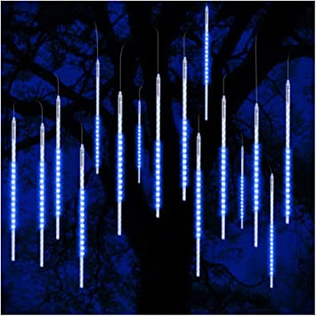LED Meteor Shower Rain Drop Lights Tube Snowfall Christmas Outdoor Decoration UK