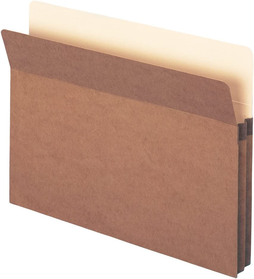 "Smead File Pocket, Straight-Cut Tab, 1-3/4"" Expansion, Letter Size, Redrope, 50 per Carton (73800)"