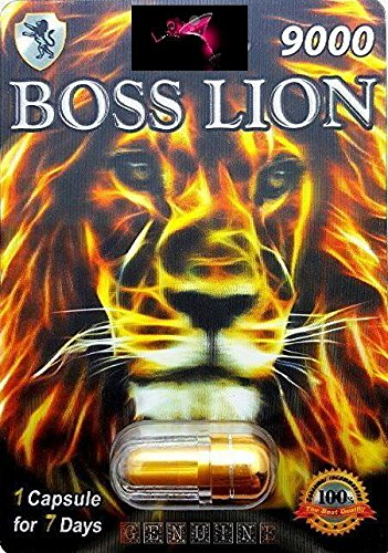 Penny Tree POWER OF BOSS LION 9000 1PK 'WOW' FOR A NIGHT YOU'LL NEVER FORGET AND WILL LEAVE YOUR PARTNER BEGGING FOR MORE PLUS FREE LOVE POTION EXCLUSIVE PEN