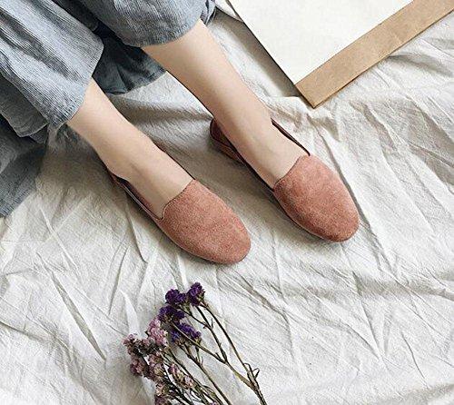 gamuza 11 UK5 zapatos de 5 planos CN38 US7 redondos de guisantes KUKI 5 suaves EU38 perezosos Zapatos 4x1q1Hz
