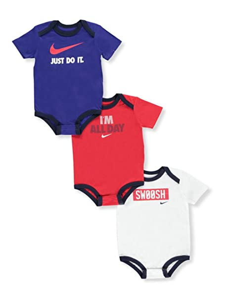 fe2f1f53a1 Amazon.com: Nike Baby Boys' 3-Pack Bodysuits: Sports & Outdoors