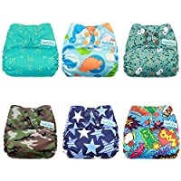 Mama Koala One Size Baby Cloth Pocket Diapers, Adjustable Washable And Reusab...