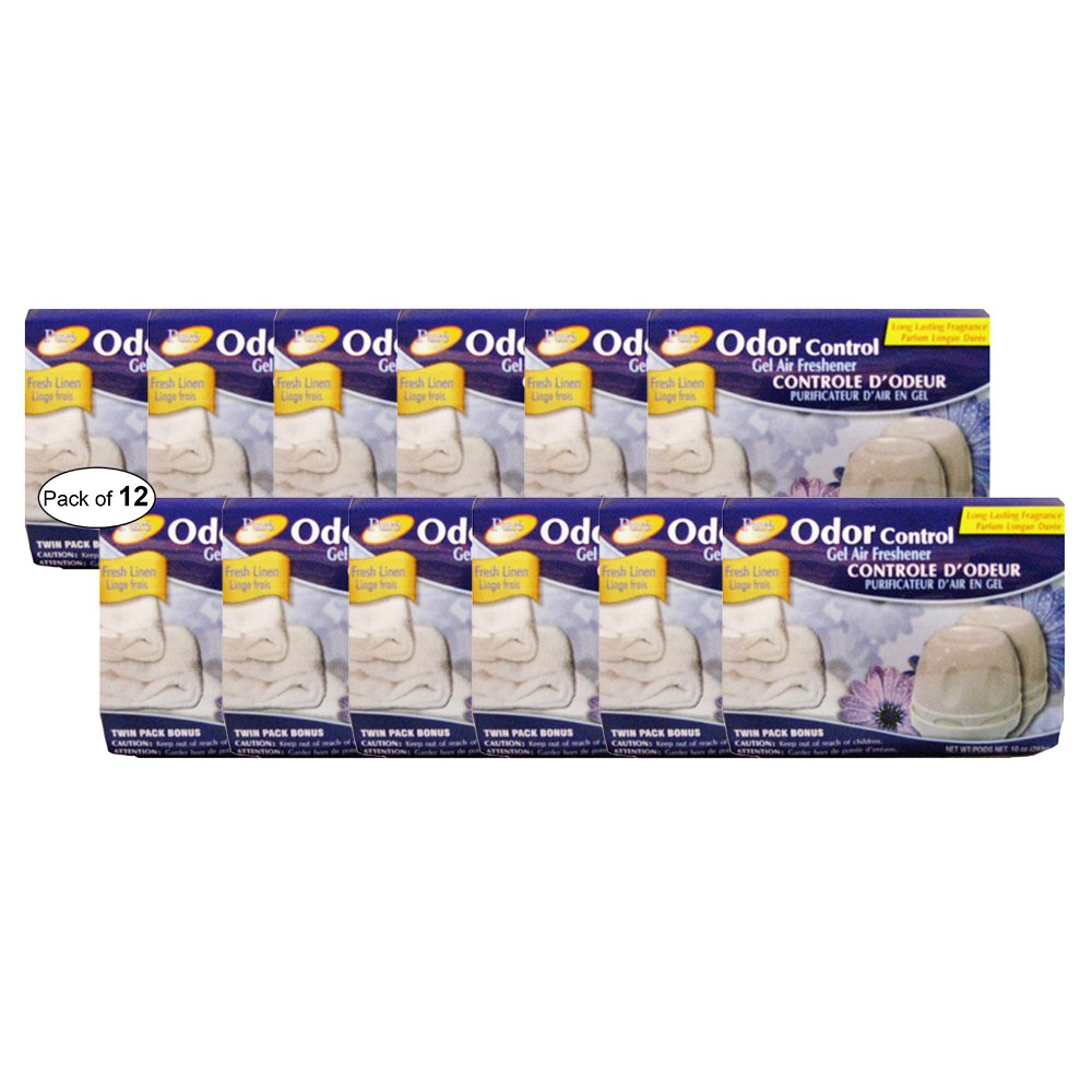 Pure Air Odor Control Air Freshener- Fresh Linen ( Twin Pack 283g) (Pack Of 12)