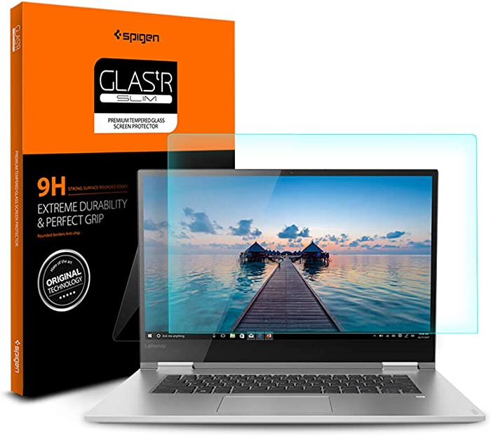 Spigen Tempered Glass Screen Protector Designed for Lenovo Yoga 730 (15.6 inch) [9H Hardness][Not Compatible with Lenovo Yoga C740 (15 inch)]