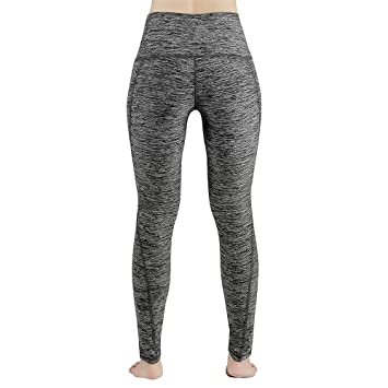 Lixada Pantalones de Yoga Capri de Cintura Alta para Mujeres ...