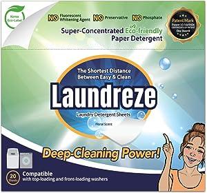 Laundreze Laundry Detergent Sheets (20 Sheets)