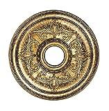 Livex Lighting 8200-65 Ceiling Medallion, Hand Painted Vintage Gold Leaf