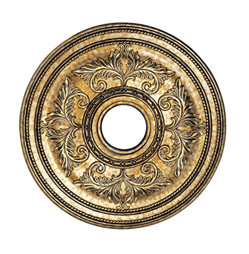 Livex Lighting 8200-65 Ceiling Medallion, Hand Painted Vintage Gold Leaf