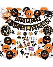 Halloween decoratie, Halloween slinger, Halloween ballonnen, Happy Halloween decoratie folieballonnen slinger, ballonnen voor Halloweenfeest kinderen