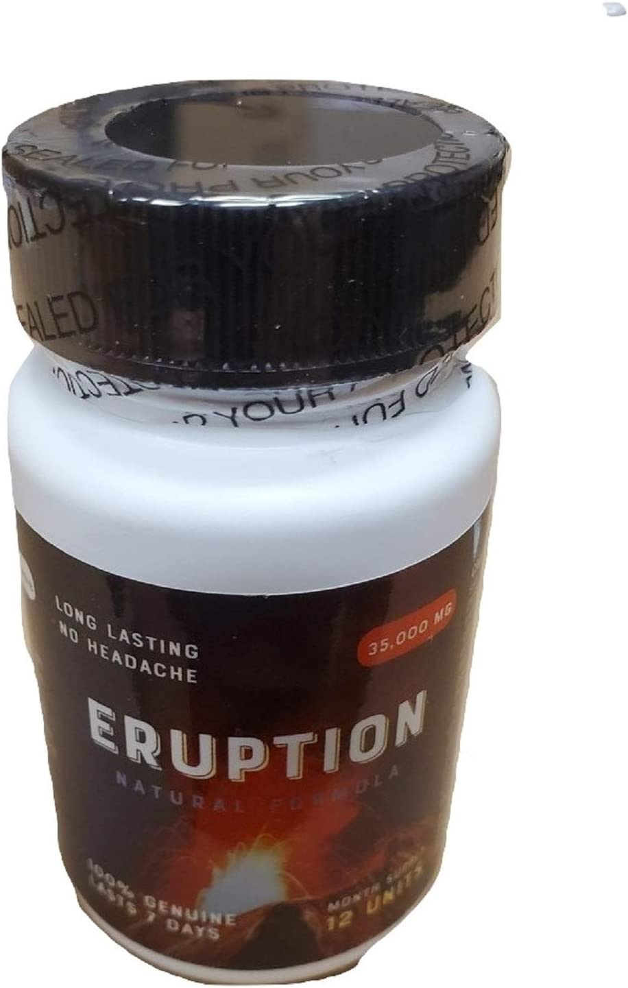 Eruption - 30 Day Supply (12 Capsules) Natural Formula - Male Enhancement Pills for Men - Excellent Male Enhancement Powerful TIME Size Stamina