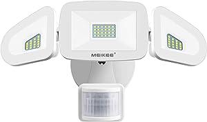 MEIKEE 42W LED Security Lights Motion Sensor Light Outdoor Flood Light, 4200LM, 5000K, IP65 Waterproof, 3 Adjustable Heads Motion Detector Lights for Outside Garage Yard Garden Porch Entryways