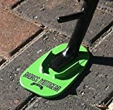 Badass Moto Gear Motorcycle Kickstand Pad - Green - American Made in USA. Durable Biker Kick Stand Coaster / Support Plate Color Choices. Rest or Park Your Bike on Hot Pavement, Grass, Soft Ground