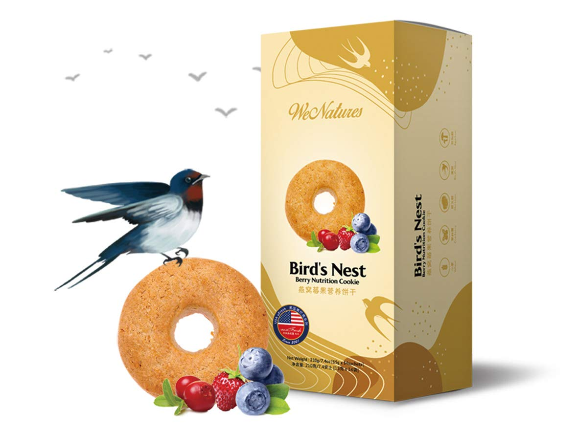 Bird's Nest Berry Nutrition Cookie: [15g x 14 sachets] / Box by WENATURES