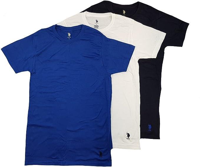 U.S. Polo Assn. Playera para Hombre, 3 Unidades, Color Negro/Azul ...