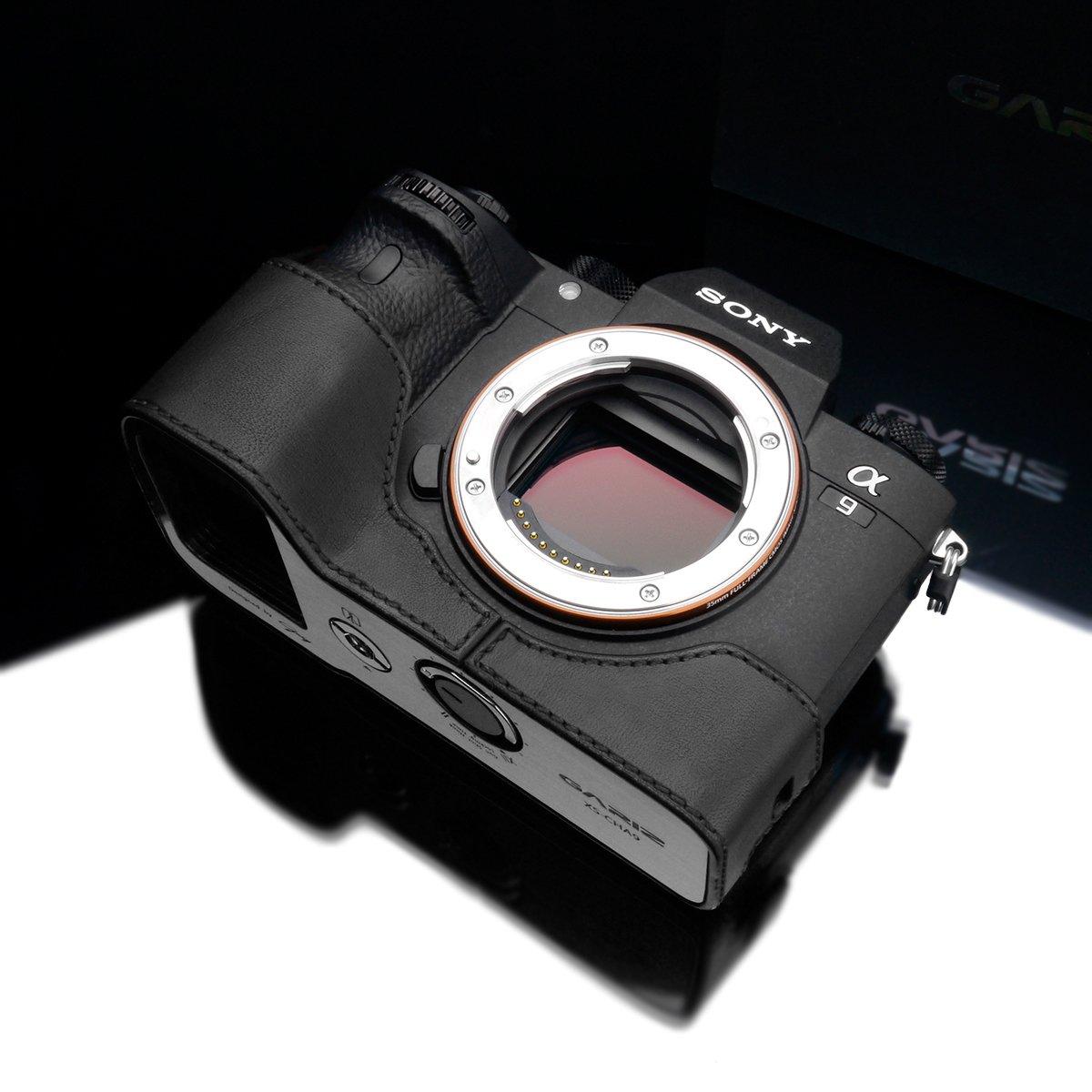 Gariz Xs Cha9bk Genuine Leather Half Case For Sony A9 L Plate Bracket Shape Kamera A7 A7r A7s Mark Ii Mark2 Iii Black Electronics